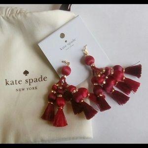 Late Spade Tassel Earrings